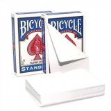 Карты Bicycle Blank Card Both Sides, синяя рубашка 1019797-blue