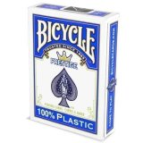 Карты Bicycle Prestige Rider 100% Plastic Jumbo, синяя рубашка F44100-blue
